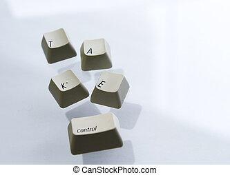 "Take Control - Keyboard keys spelling \\\""Take Control\\\"""