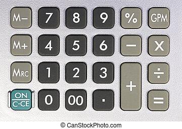 keyboard of a desk-top calculator 01