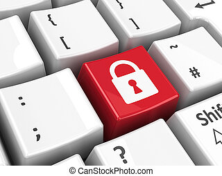 Keyboard security key