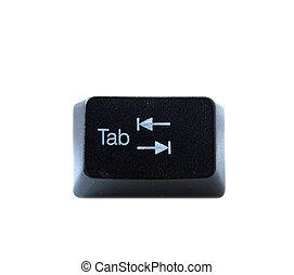 Keyboard Tab Key - The Tab key from a black computer...