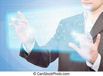 keyboard., virtuel