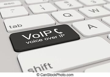keyboard - voice over IP - black
