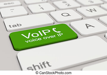 keyboard - voice over IP - green