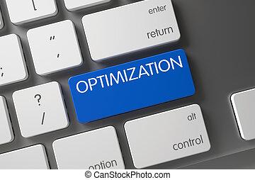 Keyboard with Blue Button - Optimization. - Optimization on...