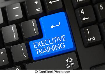 Keyboard with Blue Keypad - Executive Training. 3D.