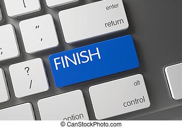 Keyboard with Blue Keypad - Finish. 3D.