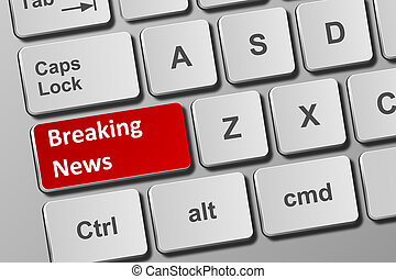 Keyboard with breaking news button
