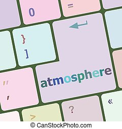 Keyboard with enter button, atmosphere word on it vector illustration