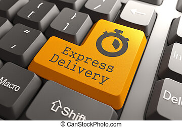 """Keyboard with """"Express Delivery"""" Button."""