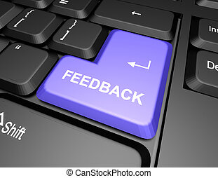 keyboard with feedback button