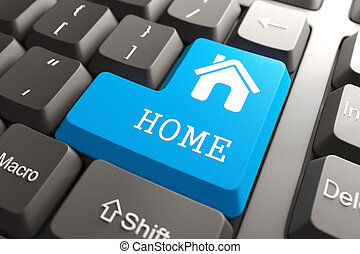 """Keyboard with """"Home"""" Button."""