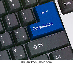 Keyboard with Hot key for consultation