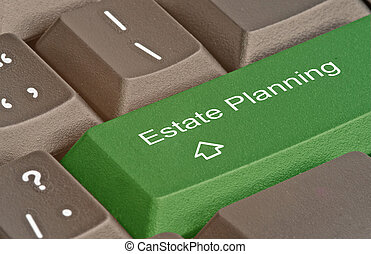Keyboard with hot key for estate planning