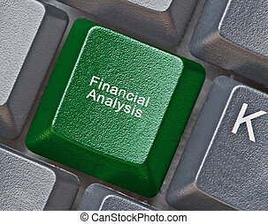 Keyboard with hot key for financial analysis