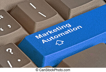 Keyboard with hot key for marketing automation