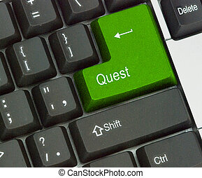 Keyboard with Hot key for quest