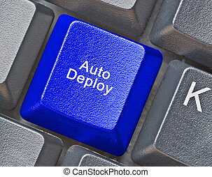 Keyboard with hot key to auto deploy