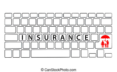 Keyboard with Insurance wording
