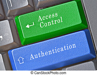 Keyboard with key for access control and aunthication