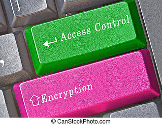 Keyboard with key for access control and encryption