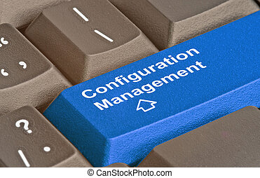 Keyboard with key for configuration management