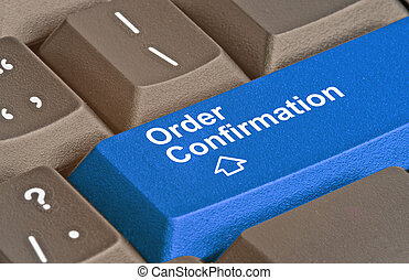 Keyboard with key for order confirmation