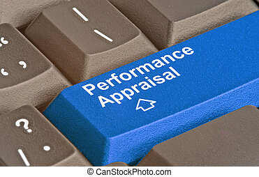 keyboard with key for performance appraisal
