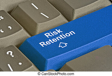 Keyboard with key for risk retention