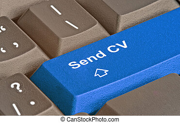 Keyboard with key for sending CV