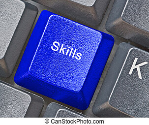 Keyboard with key for skills