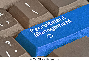 keyboard with key forrecruitment management