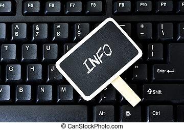 Keyboard with key info