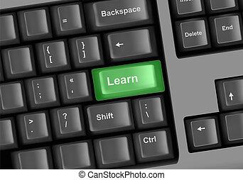 Keyboard with key learn.