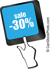 Keyboard with key sale. Internet business concept