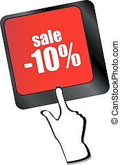 Keyboard with key sale. Internet business concept vector