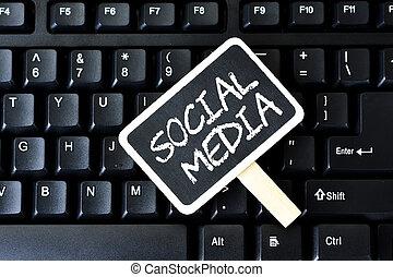Keyboard with key social media