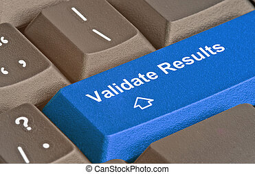 keyboard with key to validate results