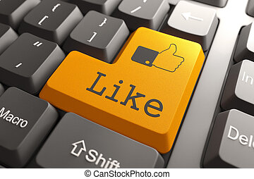 "Keyboard with ""Like"" Button."