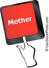 Keyboard with mother word on computer button vector