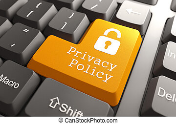 Keyboard with Privacy Policy Button.