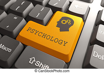 Keyboard with Psychology Button. - Orange Psichology Button...