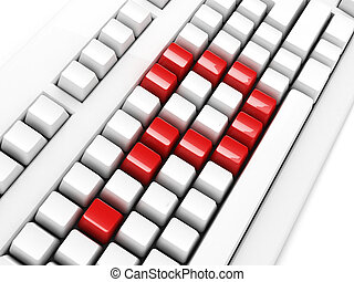 keyboard with question-mark concept