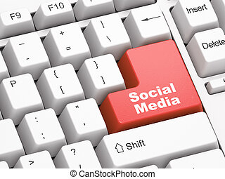 Keyboard with Social Media button
