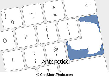 Keyboard with the Enter button being the Flag of Antartica -...