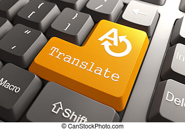 Keyboard with Translate Button. - Orange Translate Button on...