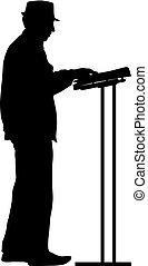 keyboardist silhouette vector