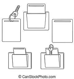 keycard, vector, conjunto