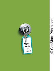 keyhold, chiave, etichetta