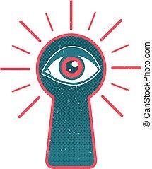 Keyhole and eye