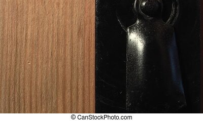 door with a keyhole on a green background